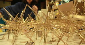 bronze foldable star sculptures